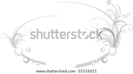 Two floral elements for design of frames. Vector - stock vector
