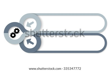 Two frames for your text and cogwheels - stock vector