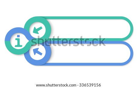 Two frames for your text and info symbol - stock vector