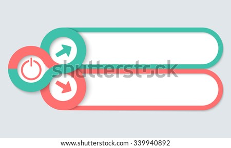 Two frames for your text and power button - stock vector