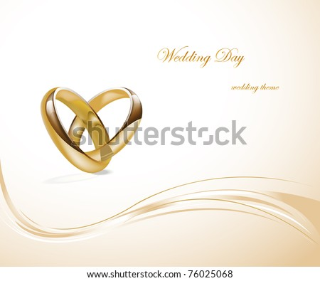 Two gold wedding rings design