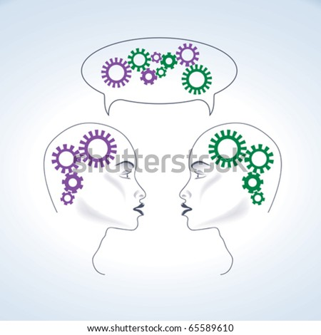 Two heads are better than one - stock vector