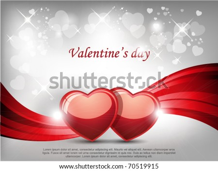 Two hearts background. - stock vector