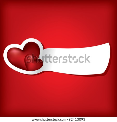 Two hearts. Valentine card. Vector illustration. EPS10. - stock vector