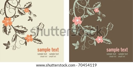 two holiday background easy to modify - stock vector