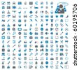 Two hundred different highly detailed vector Icons for Web Applications - stock vector