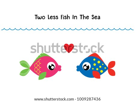 Cute wedding couple clipart stock images royalty free for Two less fish in the sea