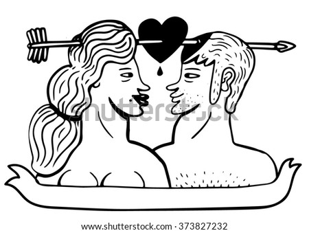 Two lovers  - stock vector