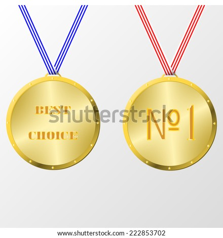 two medals isolated on white background - stock vector