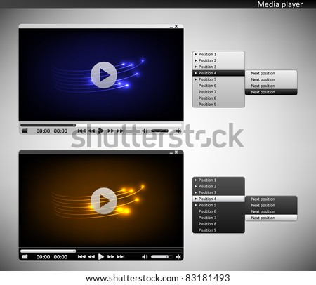 Two media players - stock vector