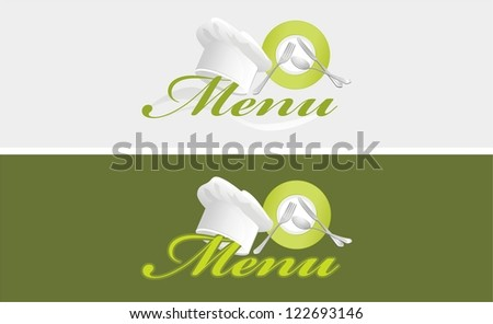 Two menu templates. Vector - stock vector