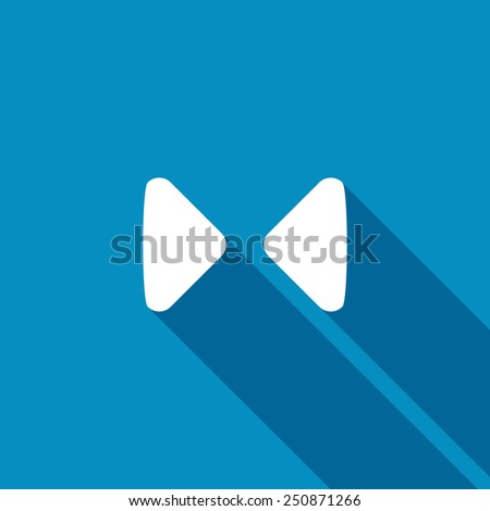 Two opposite triangular arrows pointing to the center icon. Modern design flat style icon with long shadow effect - stock vector