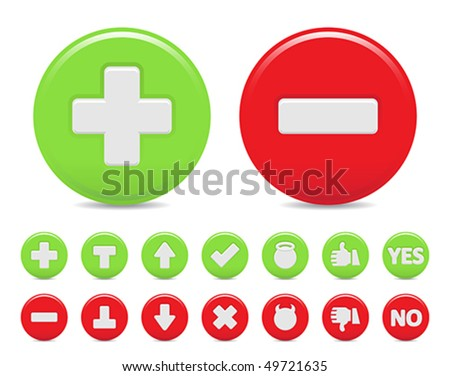 two option icons - stock vector