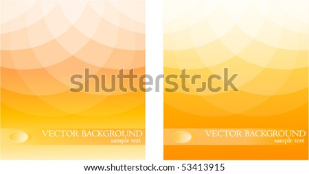 Two Orange Background - stock vector