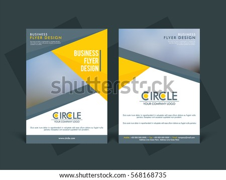 Two Pages Flyer Layout Professional Brochure Stock Photo Photo - Professional flyer templates