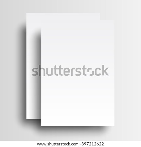 Two paper A4 mockup isolated on white background