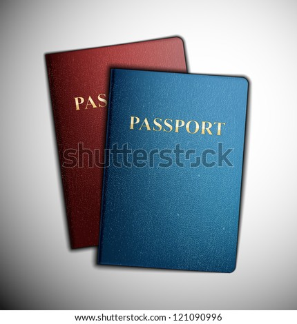 Two passports, vector. Eps 10 - stock vector