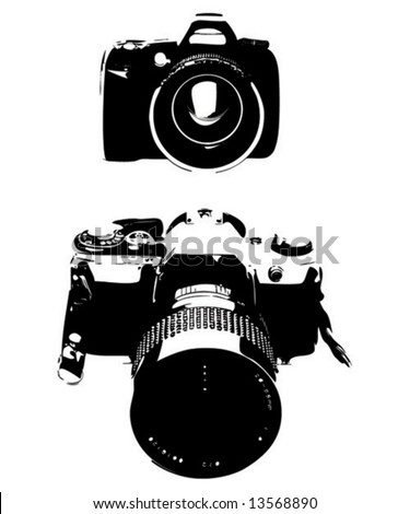 Two photo camera sketch