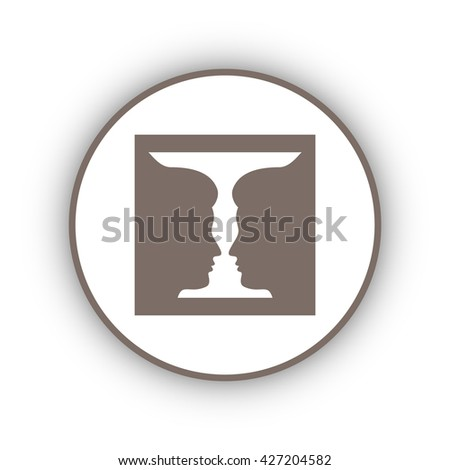 Two Profile Face Human Vase Stock Vector 427204582 Shutterstock