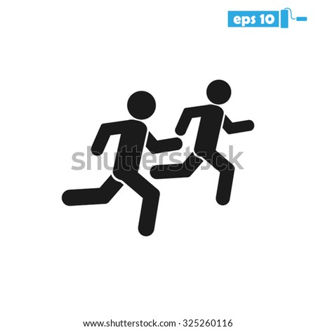 two runner - stock vector