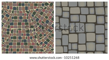 two seamless textures of stones - stock vector