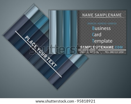 two side of a business card - stock vector