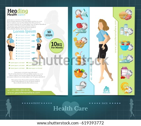 Tourism Recreation Travel Infographic Template Brochure Stock