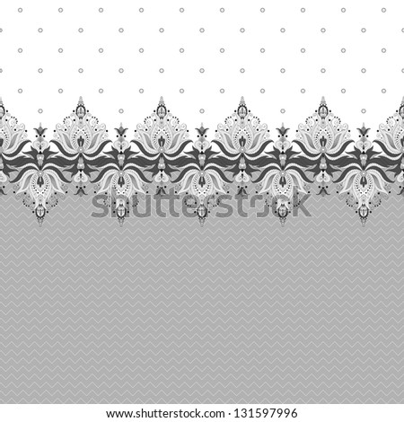 Two simple vector background and border. Oriental floral pattern and decorative items. Easily edit the colors. - stock vector