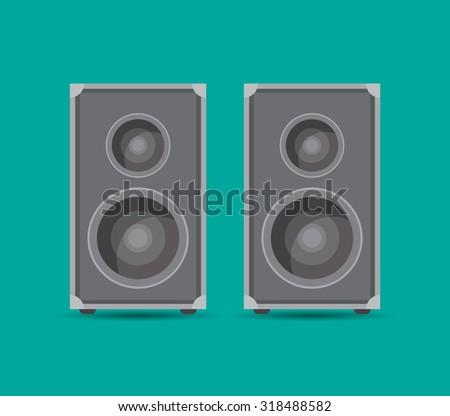 two speaker boxes, vector illustration - stock vector