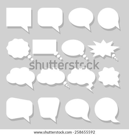 Two Speech bubbles icons set vector  - stock vector