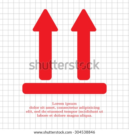 two up arrows icon - stock vector