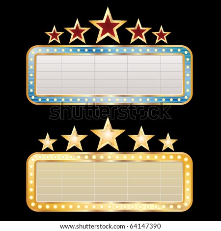 two vector blank billboards - stock vector