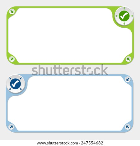 Two vector frames and arrows and check box - stock vector