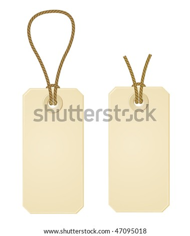 two vector paper price tags - stock vector