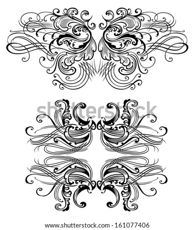 Two Victorian inspired flourish pairs.