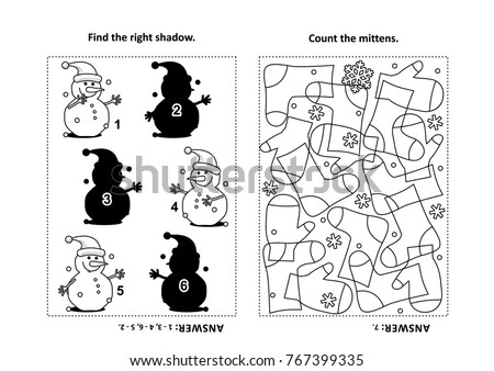 two visual puzzles coloring page kids stock vector 767399335 shutterstock. Black Bedroom Furniture Sets. Home Design Ideas