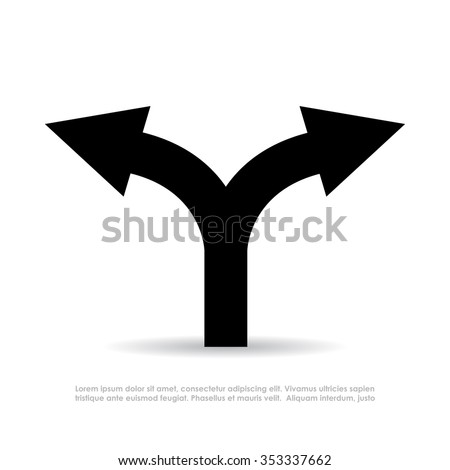 Two way arrow vector symbol isolated on white background - stock vector