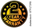 two year warranty badge - stock photo