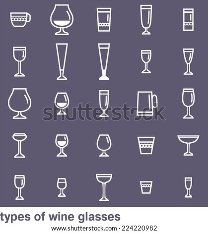 types of drinking glasses with pictures pdf