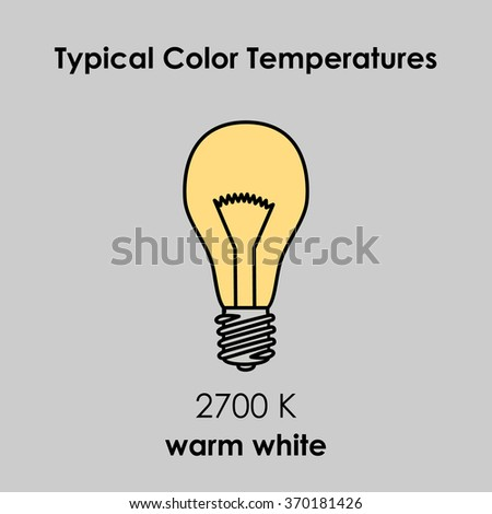 Typical Color Temperature of Bulb. Vector illustration.
