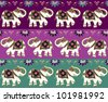 Typical indian elephant decoration banner background set. Vector file available. - stock vector