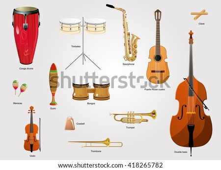 Latin Instruments Stock Images Royalty Free Images