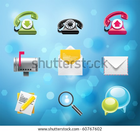 Typical mobile phone apps and services icons. EPS 10 version. Part 1 of 10 - stock vector