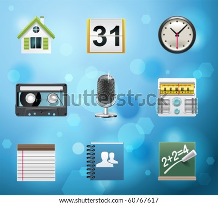 Typical mobile phone apps and services icons. EPS 10 version. Part 2 of 10 - stock vector