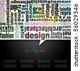 Typo-design background template series - stock vector