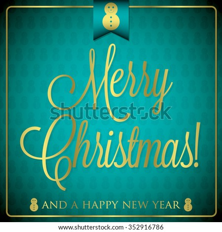Typographic Christmas card in vector format. - stock vector