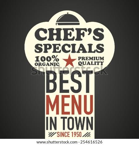 Typographic restaurant menu - stock vector