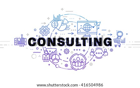 Typographic Technology Design. Modern Lettering. Set of application development, web site coding, information and mobile technologies vector icons and elements. - stock vector
