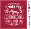 Typographic Vintage Christmas Design - stock vector
