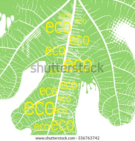 typography design of ecology concept, vector illustration - stock vector